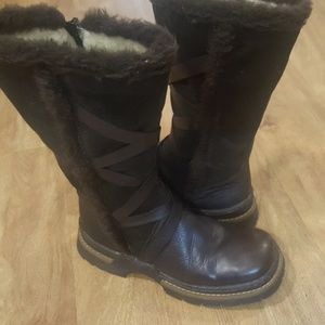 NWOB / RIEKER brown leather moto boots